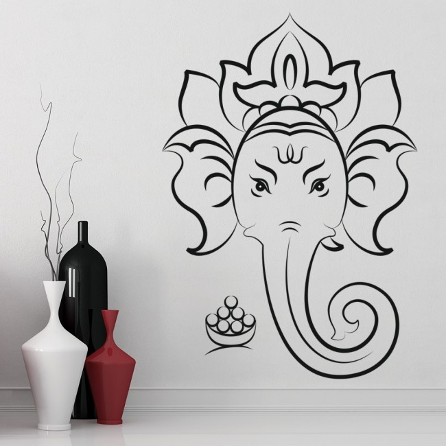 ganesha elephant wall sticker