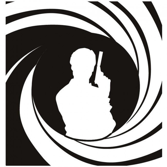 james bond 007 wall stickers icon wall art