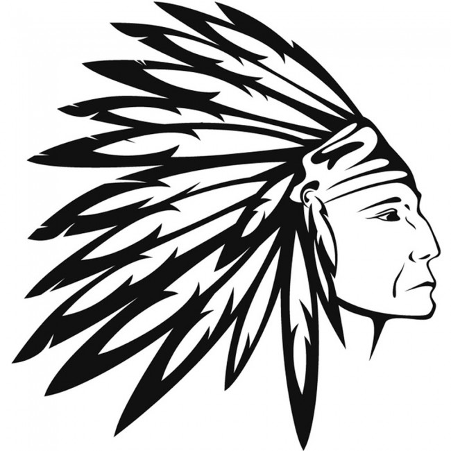 Native American Wall Sticker Indian Headdress Wall Decal ...