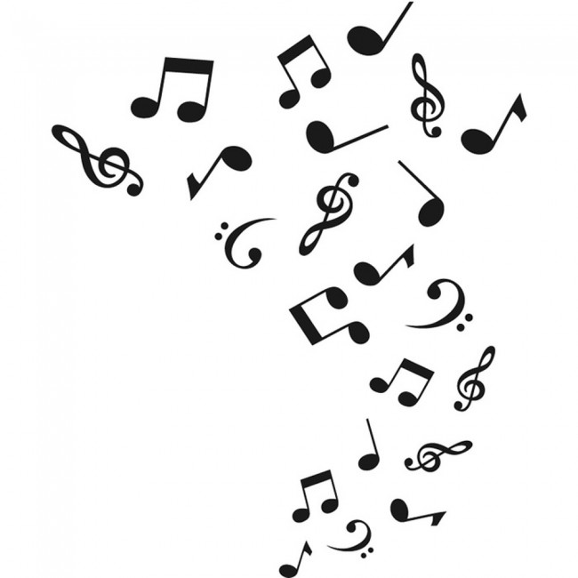 Musical Notes Wall Sticker Music Wall Decal Kids Bedroom