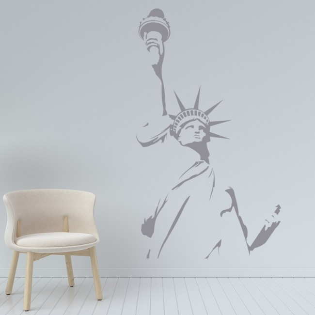 Statue Of Liberty Outline Wall Sticker Landmark Wall Art