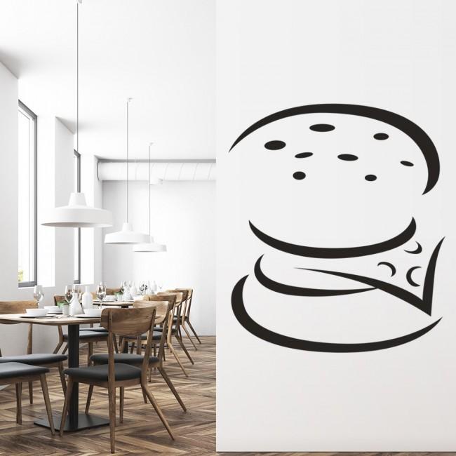 Burger Print Wall Sticker Food Wall Art