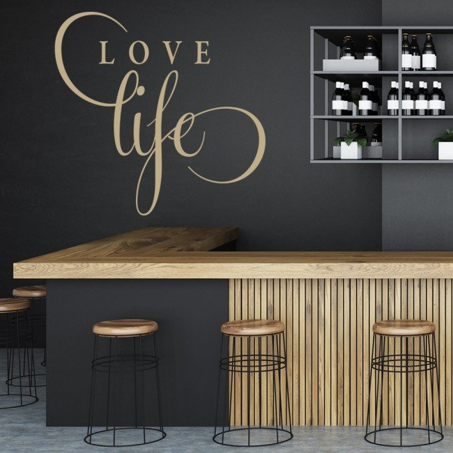 Love life wall sticker text wall art for Bedroom inspiration quotes