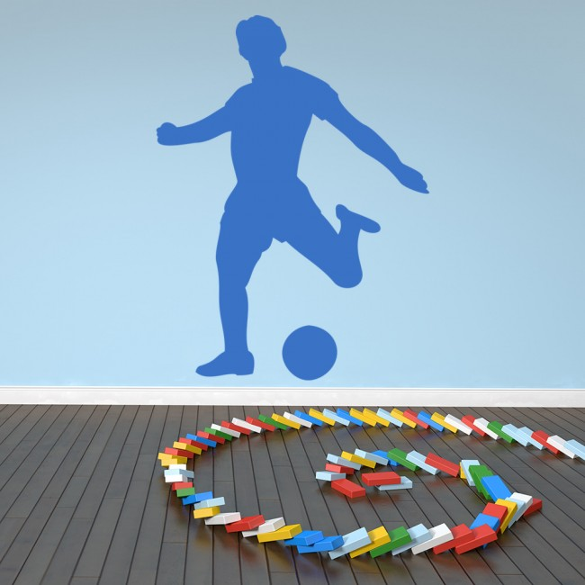 Football Striker Player Ball Goal Football Wall Stickers Sports Decor Art  Decals Part 89