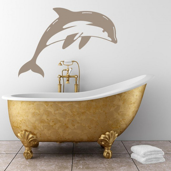 diving dolphin wall sticker animal wall art
