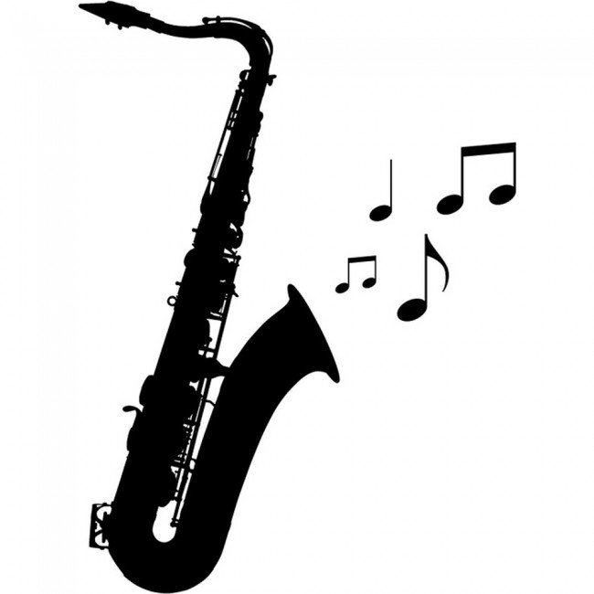 Jazz Music Wall Sticker Saxophone Wall Decal Bedroom