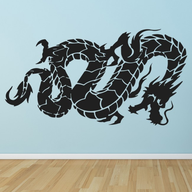 Chinese Dragon Wall Sticker Oriental Symbol Wall Decal