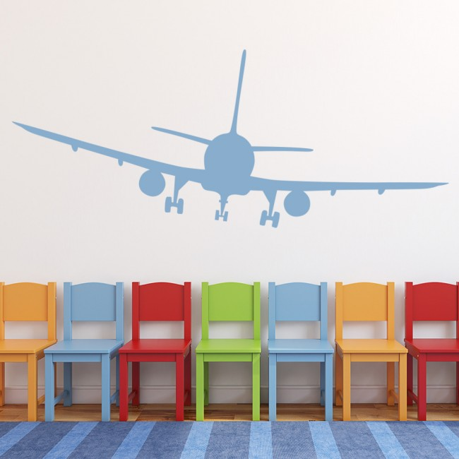 Passenger plane wall sticker aeroplanes wall decal boys for Aeroplane wall mural