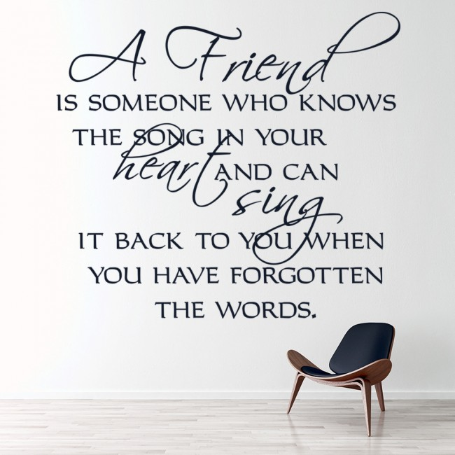 The Song In Your Heart Friends Quote Wall Sticker