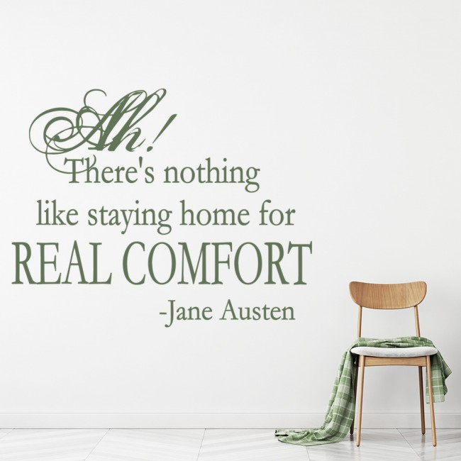There Is Nothing Like Home Quotes: Real Comfort Jane Austen Quote Wall Sticker