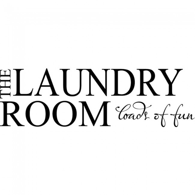 The Laundry Room Bathroom Quote Wall Sticker