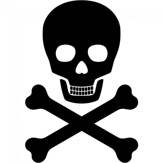 Skull And Cross Bones Wall Sticker Pirate Style Wall Art