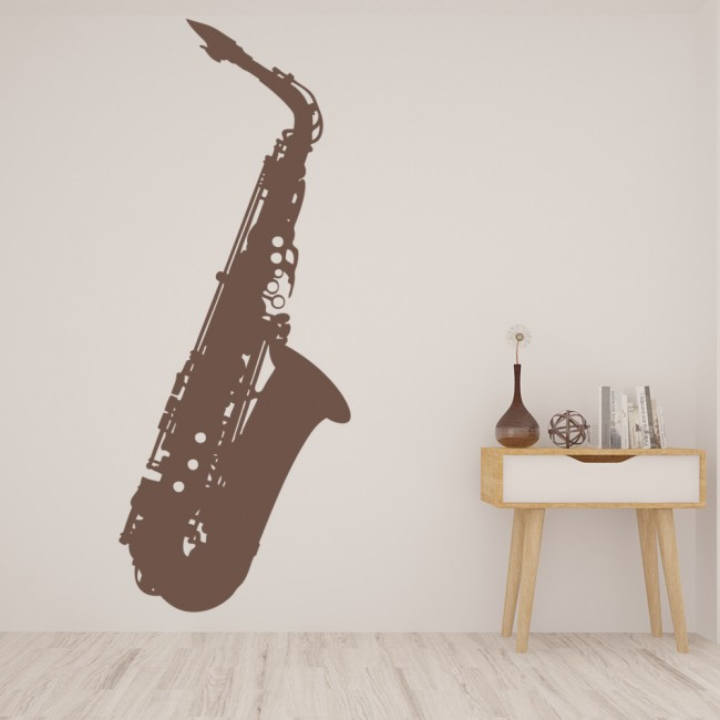 Jazz Saxophone Wall Sticker Musical Instruments Wall Decal