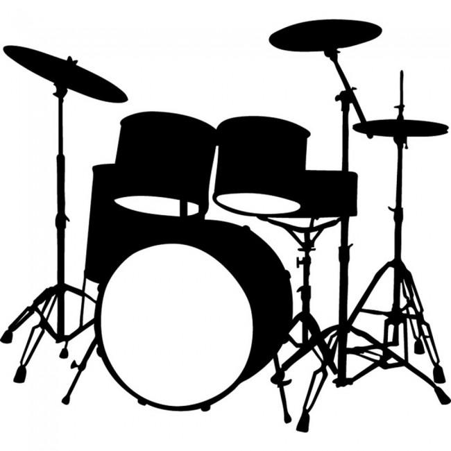 Drum Kit Wall Sticker ...