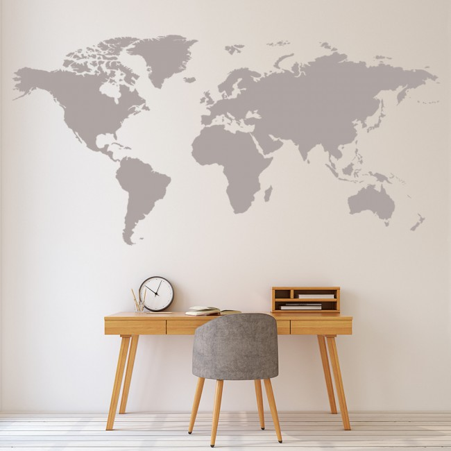 World map wall sticker educational wall decal office bedroom school ws 16254 02g gumiabroncs Image collections