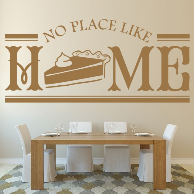 Home Decor Places: No Place Like Home Wall Stickers Kitchen Badge Wall Art