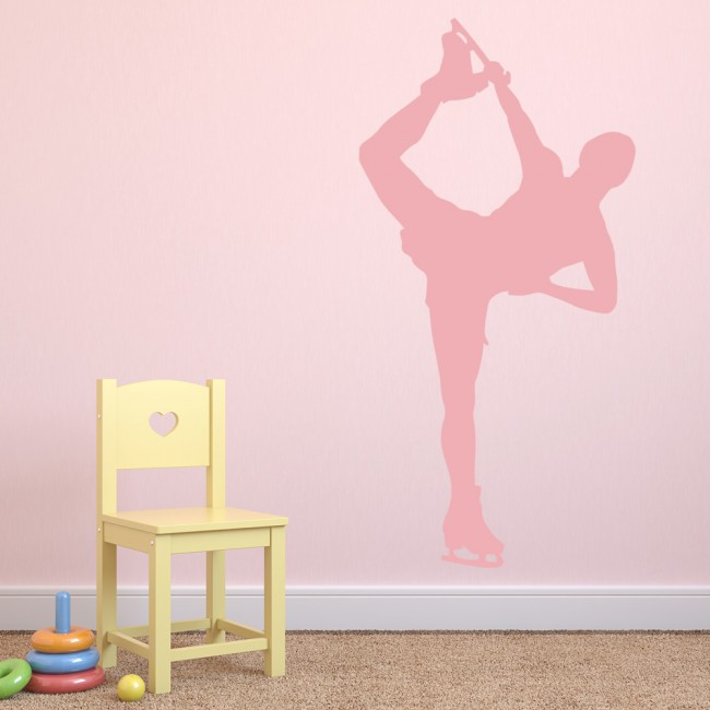 Aerobic mens figure skating wall stickers bedroom wall art - Mens bedroom wall art ...