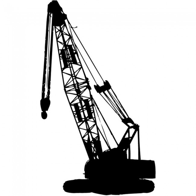 Large Crane Wall Sticker Vehicle Wall Art