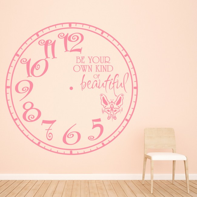 butterfly clock be your own kind of beautiful wall sticker