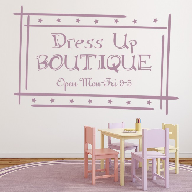 Dress Up Boutique Girls Quote Wall Decal Sticker WS-17328