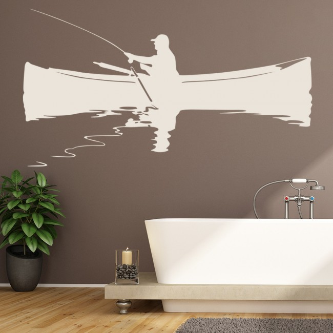 Angler Wall Sticker Fishing Wall Decal Hunting Sports Home