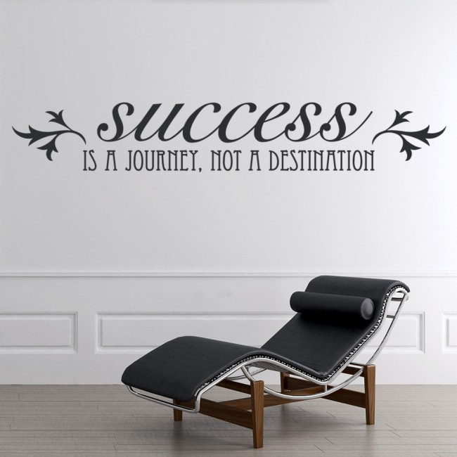 success is a journey wall sticker inspirational quote wall decal home art decor. Black Bedroom Furniture Sets. Home Design Ideas