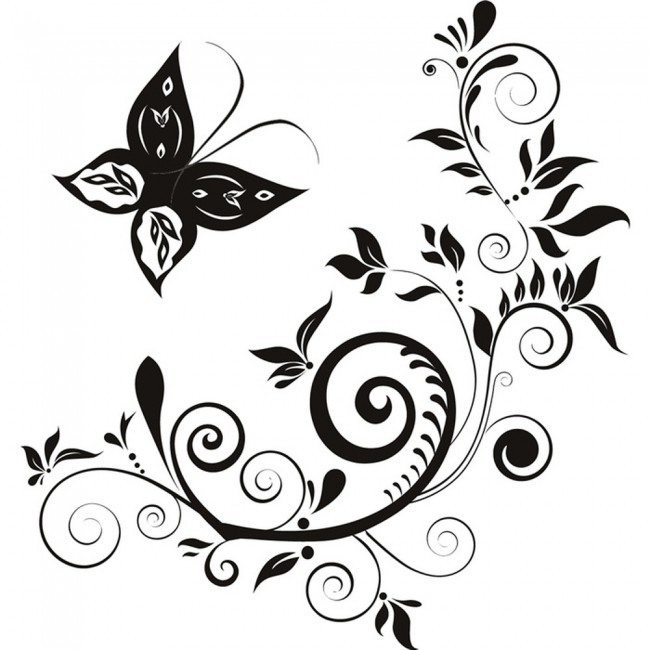 butterfly swirls wall sticker floral wall decal girls bedroom home decor ice skating clip art borders ice skating girl clipart