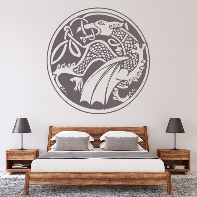 Celtic dragon wall sticker centrepiece wall decal boys for Celtic decorations home