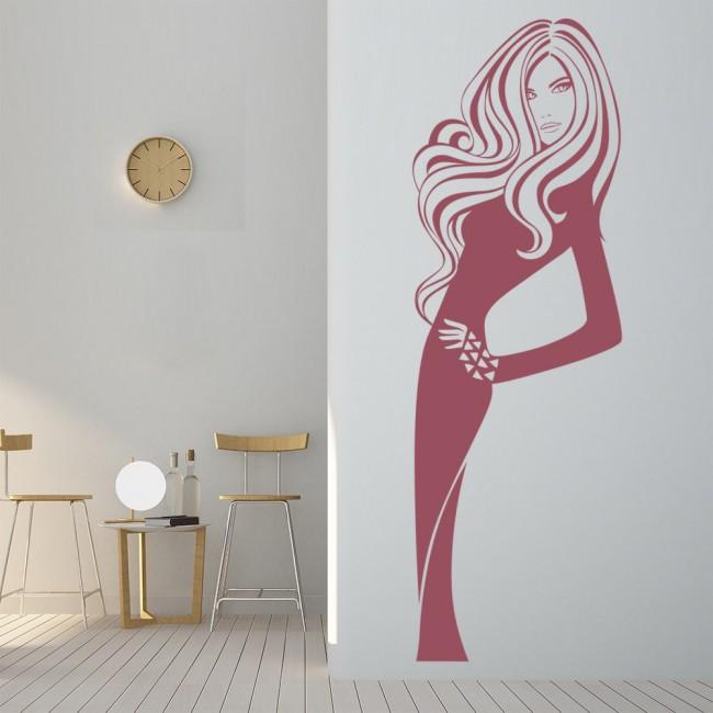 Model Pose Wall Sticker Hair Salon Wall Decal Beauty Salon ...