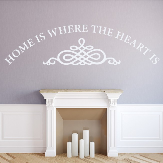 Home Is Where The Heart Is Family Quotes Wall Sticker