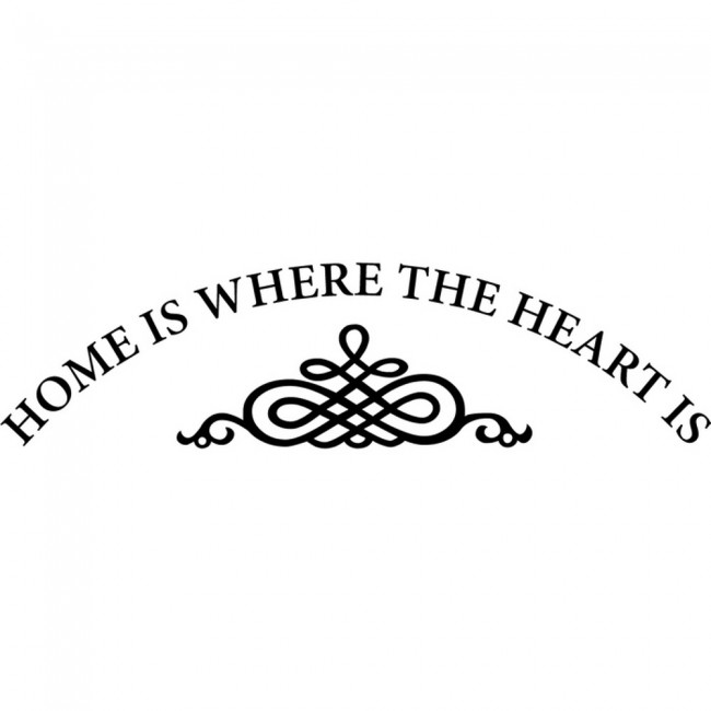 Home Is Where The Heart Is Quote: Home Is Where The Heart Is Wall Sticker Family Quotes Wall
