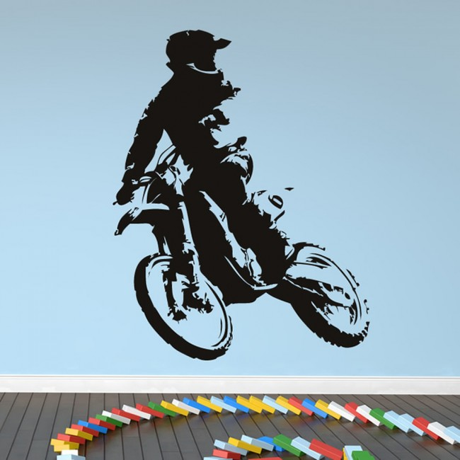 WS-17532-01.jpg & Motorcross Bike Wall Sticker Motorbike Wall Decal Boys Bedroom Home ...
