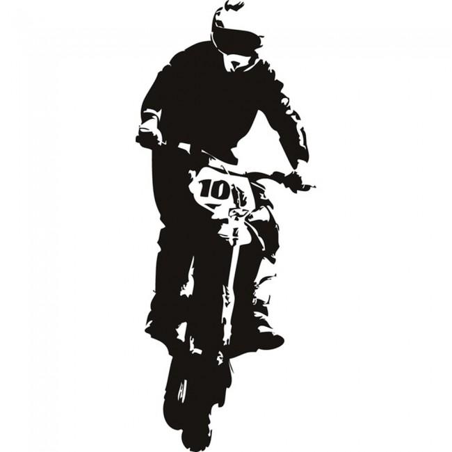 dirt bike jump motocross motorbike wall stickers sport motocross dirt bike wall decal sticker boys by