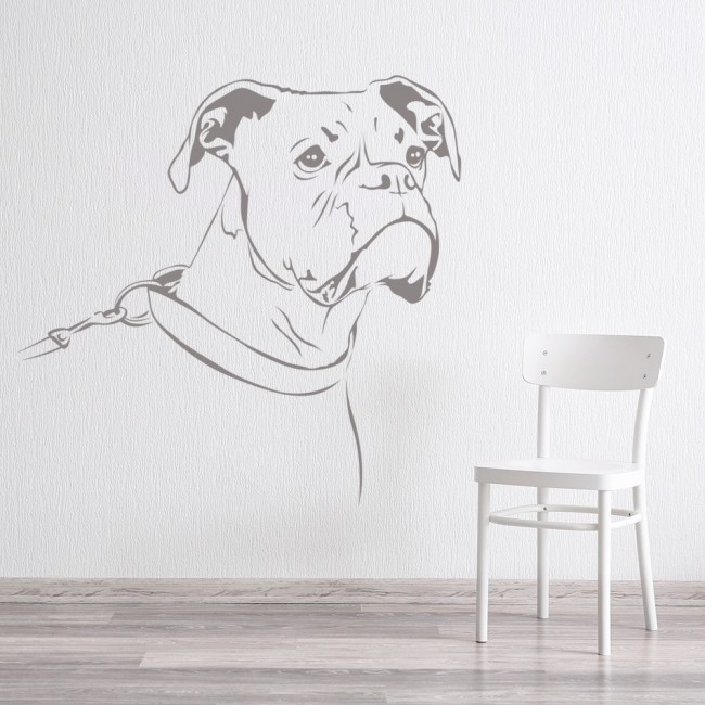 Boxer Dog Wall Sticker Pet Animals Wall Decal Canine Kids Home Decor
