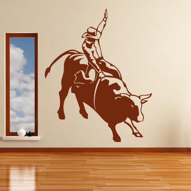 Bull Rider Cowboy Wall Sticker