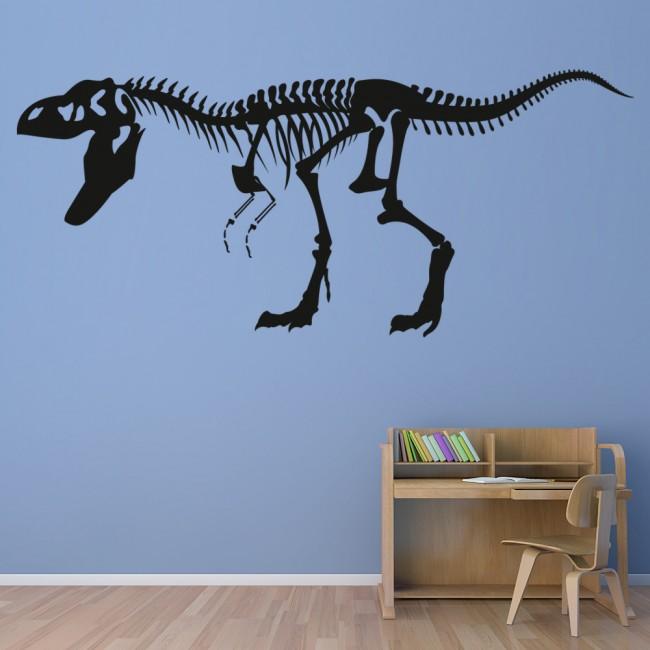 T-Rex Skeleton Wall Sticker Fossil Dinosaur Wall Decal Kids ...