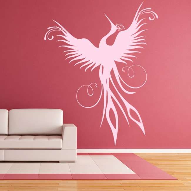 Phoenix Rising Wall Sticker Mythical Birds Wall Decal Kids