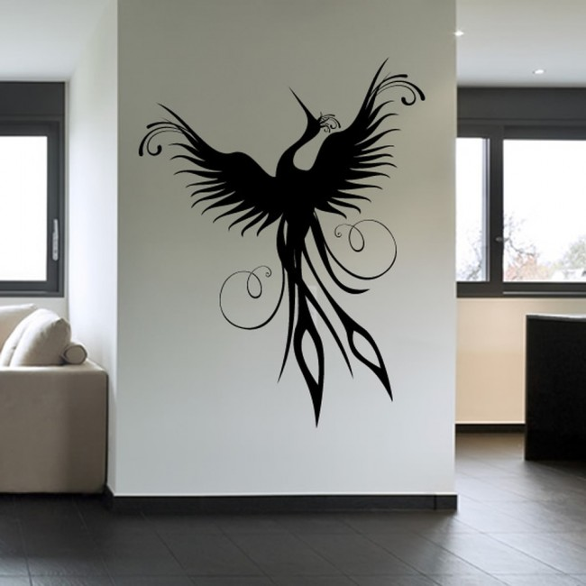at home decor phoenix rising wall sticker mythical birds wall decal 10388