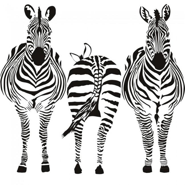 Zebra Kitchen Decor: Group Zebra Wall Sticker Safari Animals Wall Decal Kitchen