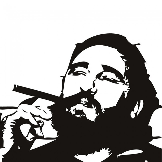 Fidel Castro Wall Sticker Cuba President Wall Decal Icon