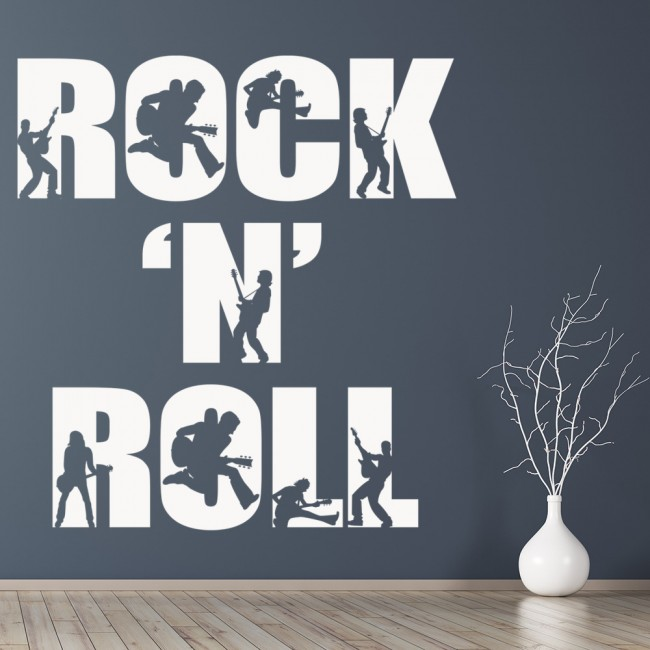 Rock N Roll Wall Sticker Band Music Wall Decal Bedroom Home Decor