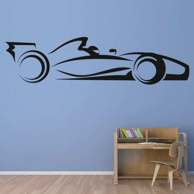 Bon F1 Race Car Wall Sticker Transport Wall Decal Boys Bedroom Nursery Home  Decor