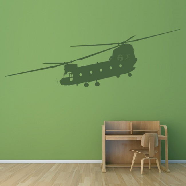 Chinook Helicopter Wall Sticker Decorative Wall Art