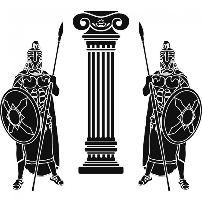 Roman Guard Rome Italy Wall Sticker WS-17876