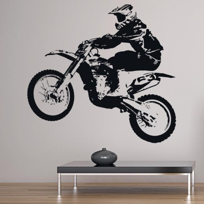 dirt bike jump motorbike sports wall sticker