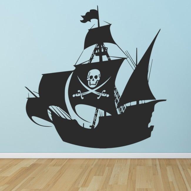 Pirate Ship Wall Stickers Children\'s Wall Art