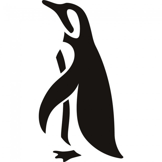 Penguin Outline Wall Sticker Arctic Animals Wall Decal Bathroom Kids Home Decor