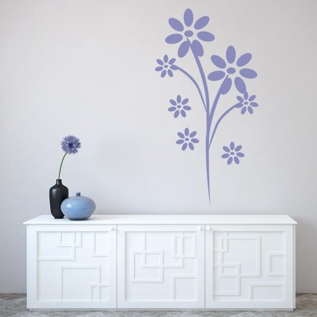 daisy flowers nursery wall sticker