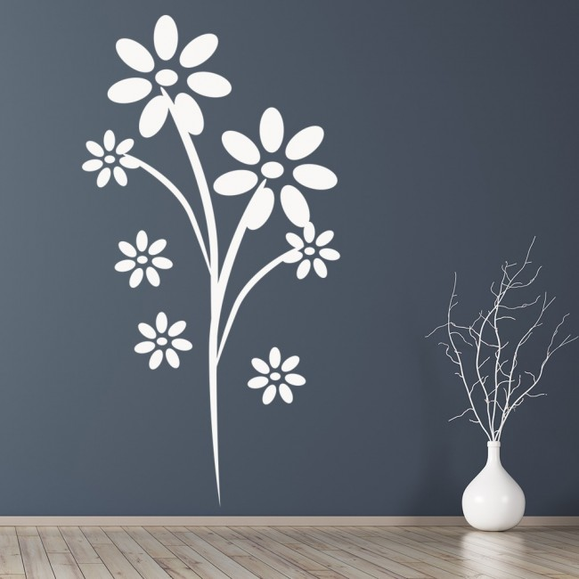 Daisy Flower Wall Sticker Nature Wall Art