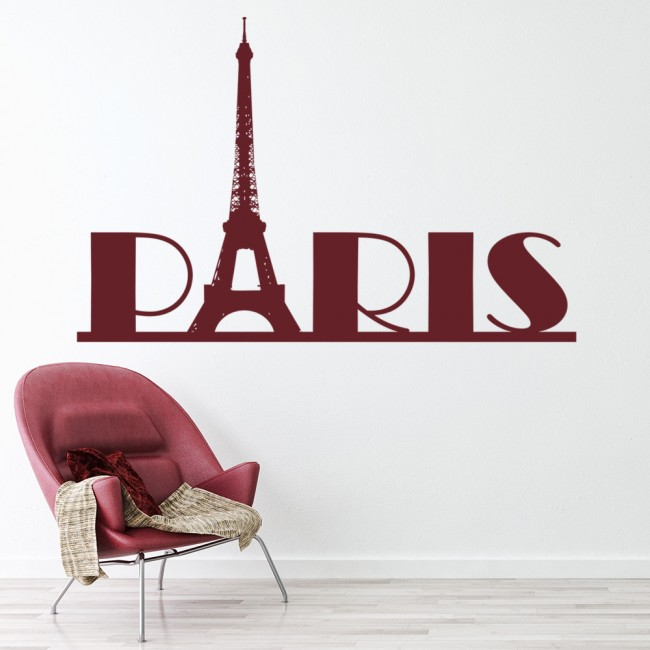 Paris Wall Sticker Eiffel Tower Wall Decal France Living Room Home Decor